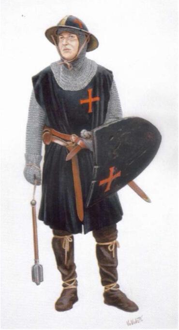Serežan, ratnik templarskog reda bez statusa viteza, 13.stoljeće