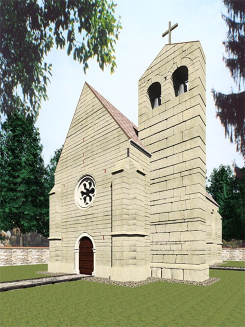 Rekonstrukcija templarskog hrama na Gori kraj Petrinje/ eksterijer